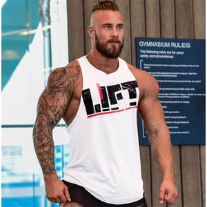 New Lift Heavy Tank Men Fitness Clothing Apparel Deadlift Shirt Powerlifting Motivational Cotton Vest Tank Top Men,Tank Top-geekbuyig