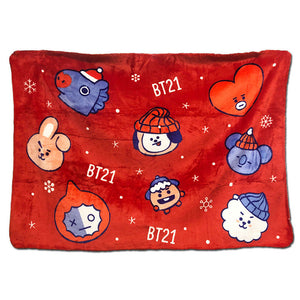 2018 NEW Kpop BT21 Bangtan Boys BTS Love Yourself Sleeping Christmas BLANKET Flannel COOKY CHIMMY Cotton Blankets 140*100 CM-geekbuyig
