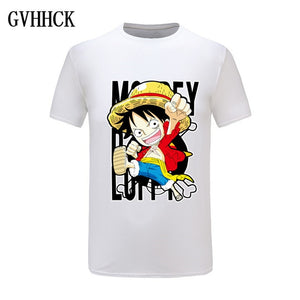 One Piece Luffy T shirt casual tshirt homme O neck streetwear man t-shirt boys clothes anime summer top tees-geekbuyig