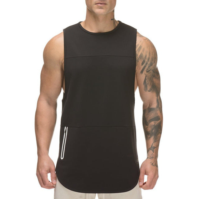 Mens Bodybuilding Tank Tops Man Gyms Fitness Sleeveless shirt Casual Fashion Sling Vest Workout Undershirt Male Brand Clothing-geekbuyig