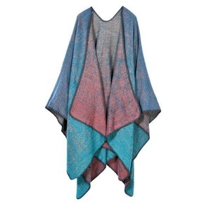 TieSet Luxury Brand 2018 Women Winter Scarf Warmer Shawl Plaid Blanket Knit Wrap Cashmere Poncho Capes Pashmina Double Sided-geekbuyig