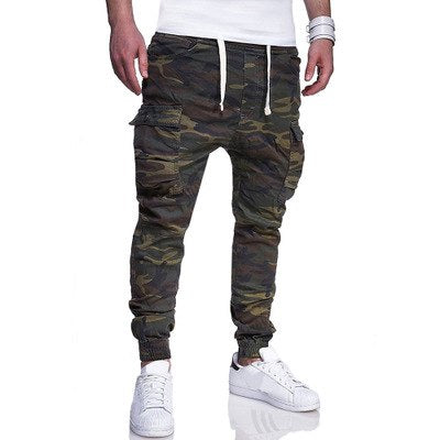 DIAOOAID 2018 new hot sale Large size men's fashion camouflage printed tether belt casual feet pants male streetwear trousers-geekbuyig