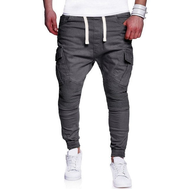 Heflashor Men Harem Pants Hip Hop Joggers Pencil Pants 2018 Multi-Pockets Trousers Mens Casual Pant Sweatpants Plus size 3XL 4XL-geekbuyig