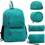 5pcs/set Casual 100% Original 2018 Bolsa Kiple School Backpack for Teenage Girl Mochila Escolar With Monkey Keychain-geekbuyig