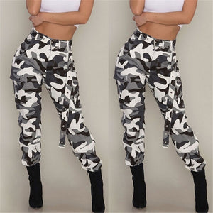 Casual Women High Waist Camouflage Pants 2018 Fashion Female Trouser Ankle-Length Sweatpants Ladies Loose Streetwear Camo Pants-geekbuyig