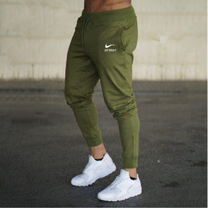 2018 trousers man joggers casual pants gym fitness men sweatpants print logo brand men pants winter cotton pants pencil trousers-geekbuyig