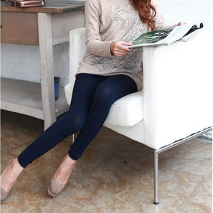 Thick Cotton Women Sexy Skinny Leggings Solid Color Women's Stretch Thicken Warm Pants Seamless fashion Footless Slim Femme-geekbuyig