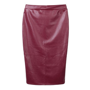 JAYCOSIN women's Skirts girl Women sexy Skirts Leather Skirt High Waist Slim Party Pencil Skirt solid MAR20-geekbuyig