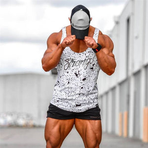 2018 New Mens Bodybuilding Tank Top Gyms Fitness Sleeveless Shirt Male Clothing Fashion Singlet Vest Undershirt 4 Color-geekbuyig