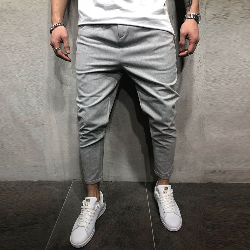 Streetwear men pants Spring Fashion Harem Pants Casual Ankle Length track pants Hip Hop slim Trousers pockets Free shipping-geekbuyig