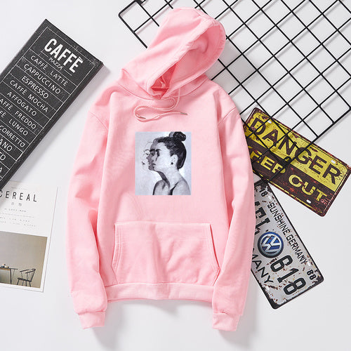 Hoodies Women Sweatshirts Autumn Long Sleeve Harajuku Casual Coat Retro Printed Casual Loose Couples Hooded Sweatshirt Plus Size-geekbuyig