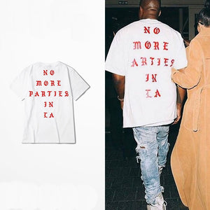 Dropshipping New 2018 Hot S Hip Hop Kanye West I feel Like Paul 100% Cotton tshirts NO MORE PARTIES IN LA T SHIRTS Men Women Tee-geekbuyig