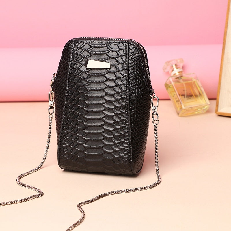 2018 New Mobile Phone Bag Split Leather Fashion Female Mini Shoulder Bags Design Soft Phone Bag Women Small Messenger Bags-geekbuyig