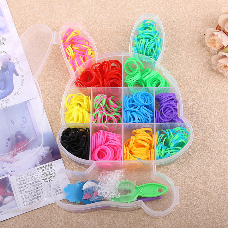 New Arrivals Gums For Bracelets Colorful Pendant Loom Bands Children DIY Kit Set Silicone Rubber Bands to Weave Charms Gift-geekbuyig