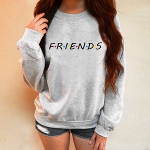 Hoodies Women Sweatshirts Friends Print Ladies Long Sleeve Oversized Hoodie Winter Pullover Sweatshirts Womens Moletons 2018-geekbuyig
