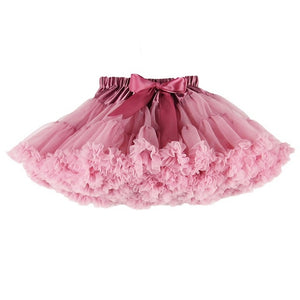 B&N Custom Women(ONE SIZE) Pettiskirt Girls kid(XS-XXL) Tutu Tulle Skirt Parent-child 2 layers 1 Lining Fluffy Dance Petticoat-geekbuyig