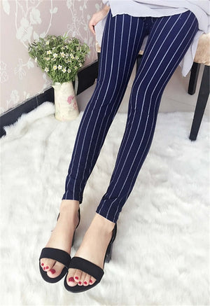 New Spring Summer Women Fashion Thin Stretch leggings printed Slim Skinny legging elastic Pants-geekbuyig