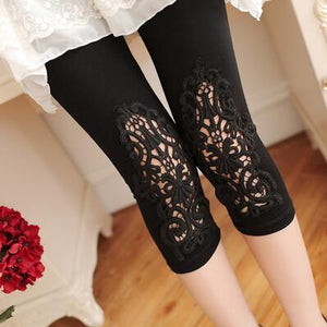 long leggings women 2019 new size S- 7xl women leggings thin hollow thin lace leggings solid pants plus size 7xl 6xl 5xlt004t006-geekbuyig