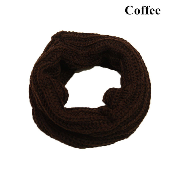 New Arrive Men Women's Nice Winter Warm Infinity 2Circle Cable Knit Cowl Neck Long Scarf Shawl-geekbuyig