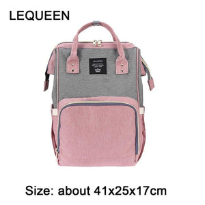 Fashion Mummy Backpacks Oxford Big Backpacks for Mom Maternity Nappy Bag Large Capacity Baby Bags Travel Shoulder Bags for Girls-geekbuyig