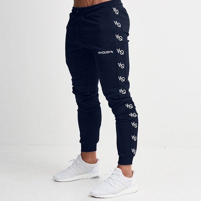 2017 Men Joggers Brand Male Trousers Casual Pants Sweatpants Jogger Black Casual Elastic cotton GYMS Fitness Workout pants-geekbuyig