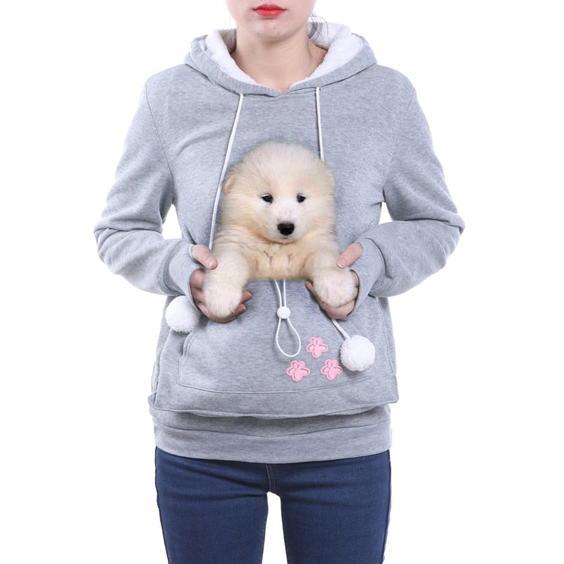 High Quality Cat Lovers Hoodies Ears Cuddle Pouch Dog Pet Hoodies For Casual Kangaroo Pullovers Sweatshirt Drop Shipping 2XL-geekbuyig