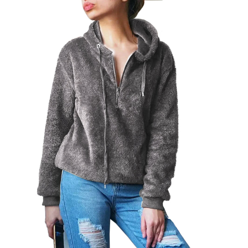 LANSHANQUE Chic Style Women Hoodies Pocket High Street Oversized Female Hooded Sweatshirt Plus Size Moletom Feminino Ladies Coat-geekbuyig