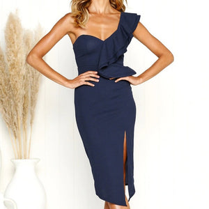 Sexy High Split Halter Vintage Party Elegant Vestidos Boho Style Beach Maxi Dress Women 2018 Summer Backless Bandage Tunic-geekbuyig