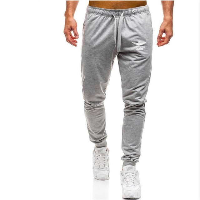 New Brand Print logo Gyms Men Joggers Casual Men Sweatpants Joggers Pantalon Homme Trousers Sporting Clothing Bodybuilding Pants-geekbuyig