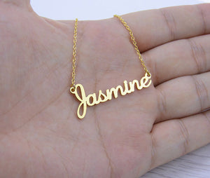 Handmade Jewelry Any Personalized Name Necklaces Women Men Silver Gold Rose Choker Custom Necklace Engraved Bridesmaid Gift Idea-geekbuyig
