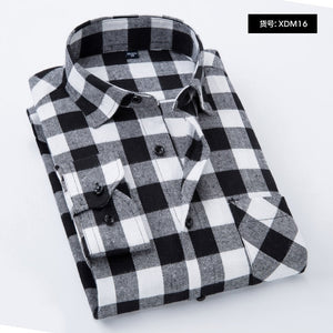 Men Plaid Shirt 2018 New Autumn Winter Flannel Casual Shirt Men Shirts Long Sleeve Chemise Homme Cotton Male Check Shirts-geekbuyig