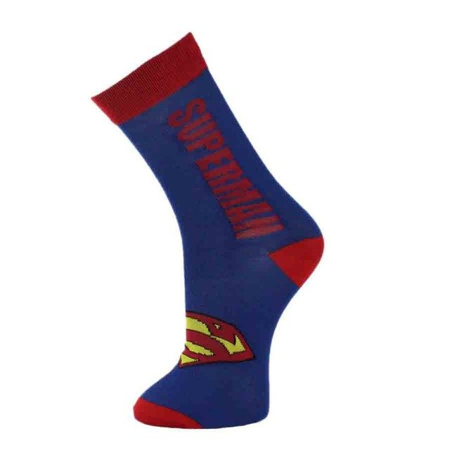 2018 Newest Men Long Cotton Socks Superman Batman Captain America Skull Classic Superhero Man Stocking Hot Sale-geekbuyig