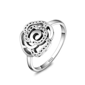 925 Silver Ring Charm Round Crystal Big Flwer Starfish Finger Rings For Women Jewelry-geekbuyig