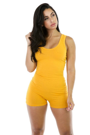 2019 Summer Women Playsuit Shorts Casual Rompers Sexy Sleeveless Vest Jumpsuit Female High Stretch Slim Fit Bodysuit 10 Colors-geekbuyig