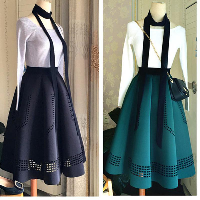 2019 Elegant Korean Spring Skirts Womens Hepburn Style Vintage High Waist Tutu Skirt Space Cotton Quality Tutu Free Shipping-geekbuyig