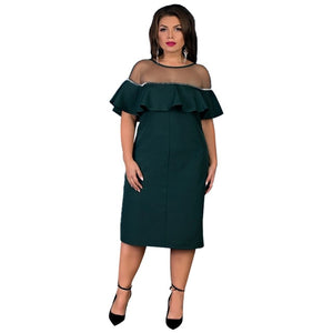 2018 Ukraine loose winter dress for women lace party dress plus size women clothing large casual autumn dress 5XL 6XL vestidos-geekbuyig