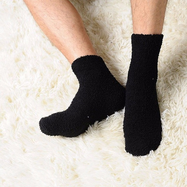 1 Pair Fashion Extremely Cozy Cashmere Socks Men Women Winter Warm Sleep Bed Floor Home Fluffy For Daily Life-geekbuyig