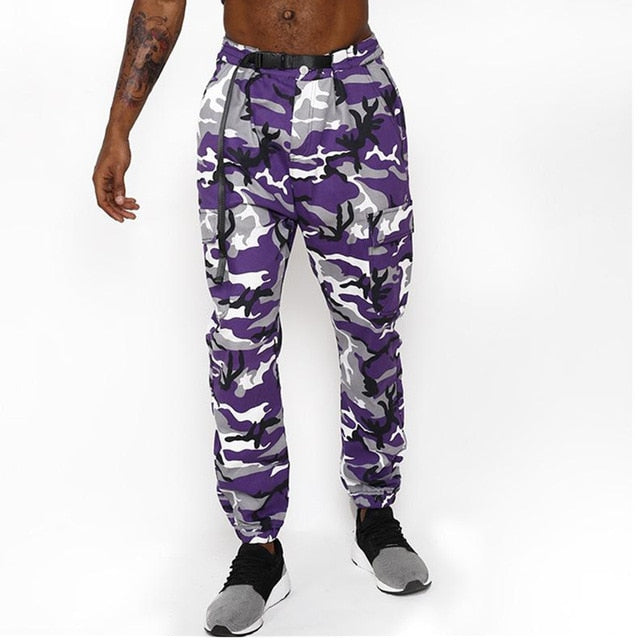 Color Camo Cargo Pants 2018 Mens Fashion Baggy Tactical Trouser Hip Hop Casual Cotton Multi Pockets Pants Streetwear-geekbuyig