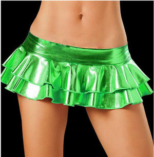 2019 Sexy LaTeX Skirt Women Pole Dancing Club Wear Short Skirts 5 Colors Patent Leather Micro Mini Skirts Dancing Skirt-geekbuyig