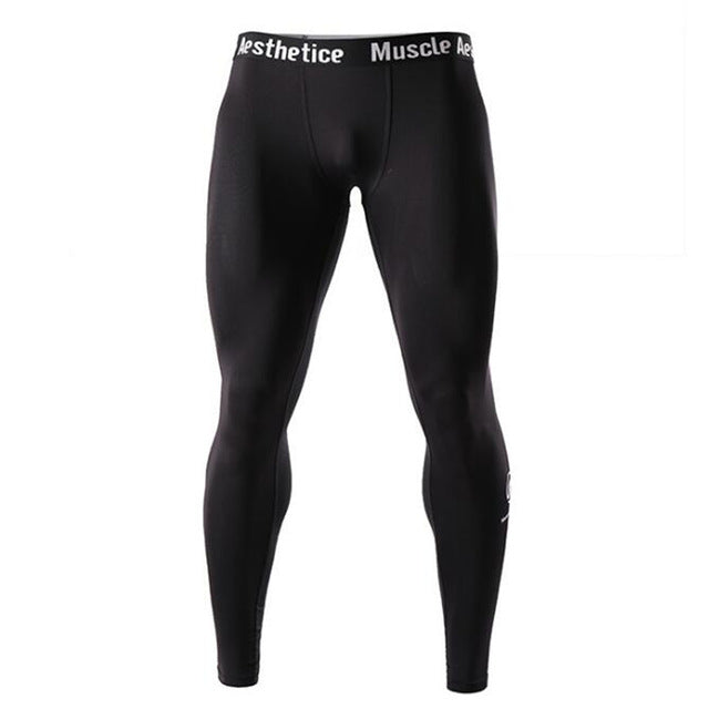New Men Compression Quick dry Skinny Leggings Man Gyms Fitness Workout Bodybuilding Trousers Male Joggers Crossfit Bottoms Pants-geekbuyig