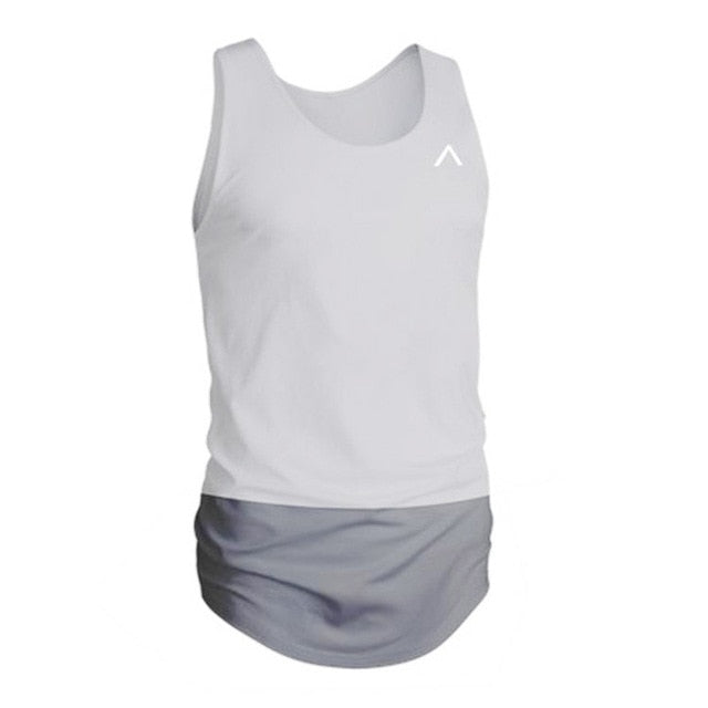 Summer Tank Tops Patchwork Men Casual Tanks Fitness TEES Sleeveless Bodybuilding Clothing Crossfit Tanktop Active Undershirt-geekbuyig