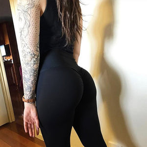 Women Scrunch Sport Trainning Leggins Black Bodycon Exercise Pants Workout Solid Push Up Slim Fit Butt Leggings Woman Sweatpants-geekbuyig