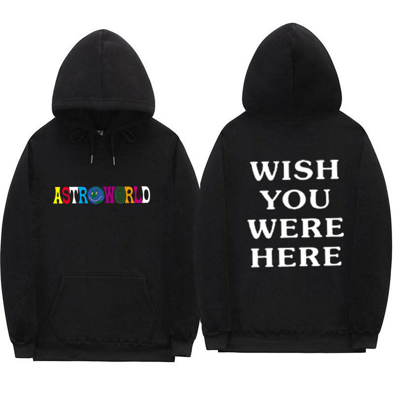 TRAVIS SCOTT ASTROWORLD WISH YOU WERE HERE HOODIES fashion letter ASTROWORLD HOODIE streetwear Man woman Pullover Sweatshirt-geekbuyig