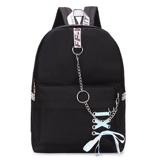 Fashion Women Backpack Female Backpack Leisure Japan Knapsack Casual Shoulder Bags For Women 2019 Teenage Girls Classic Bagpack-geekbuyig