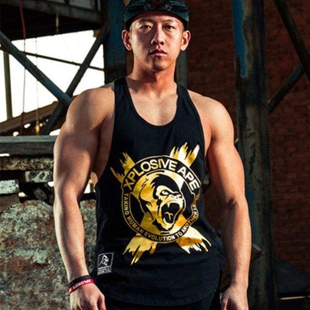 2018 New Men Stringer Tank Top Gasp Brand Mens Bodybuilding Fitness Male Singlets Clothes Muscle Vest Sleeveless Tank-geekbuyig