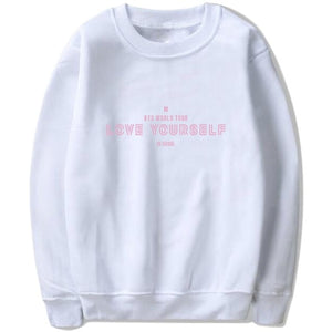 Drop Ship Autumn Winter BTS Kpop Hoodies Sweatshirts Letters Printed Clothes LOVE YOURSELF IN SEOUL Pullover Tops Sweatshirt-geekbuyig