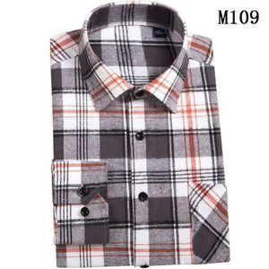 BIANYILONG 2019 New Flannel Green Plaid Shirt Men Women Casual Slim Fit Social Long Sleeve Stripe Camisas Masculina Plus Size-geekbuyig