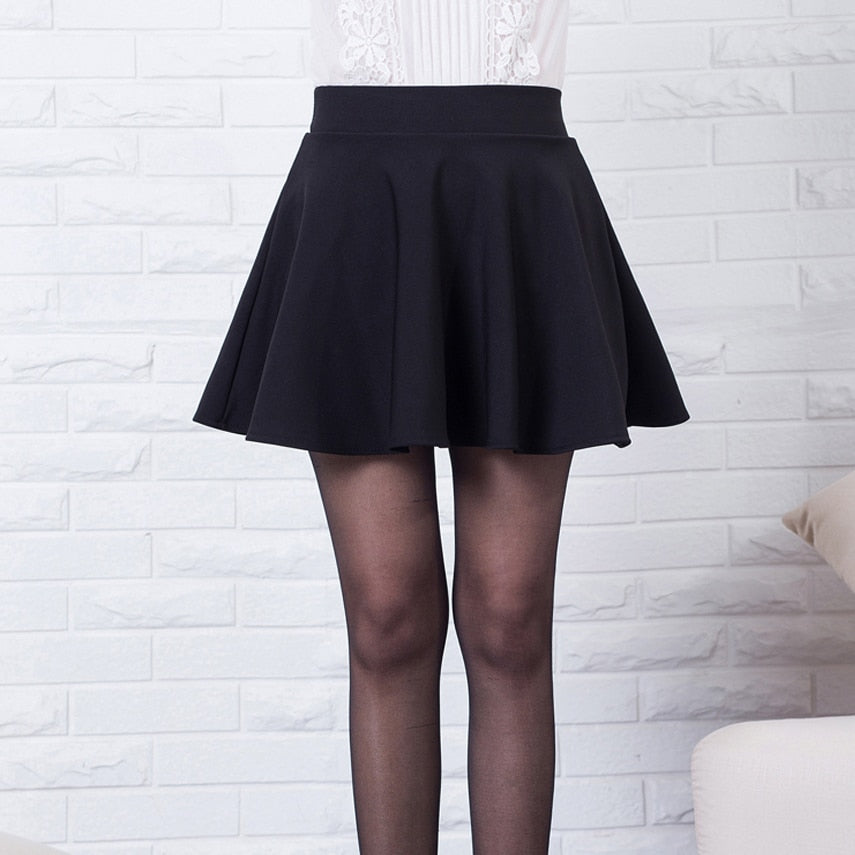 New short skirts womens 2019 new style casual vintage girls skirts for school red pleated mini skater skirt high waist plus size-geekbuyig