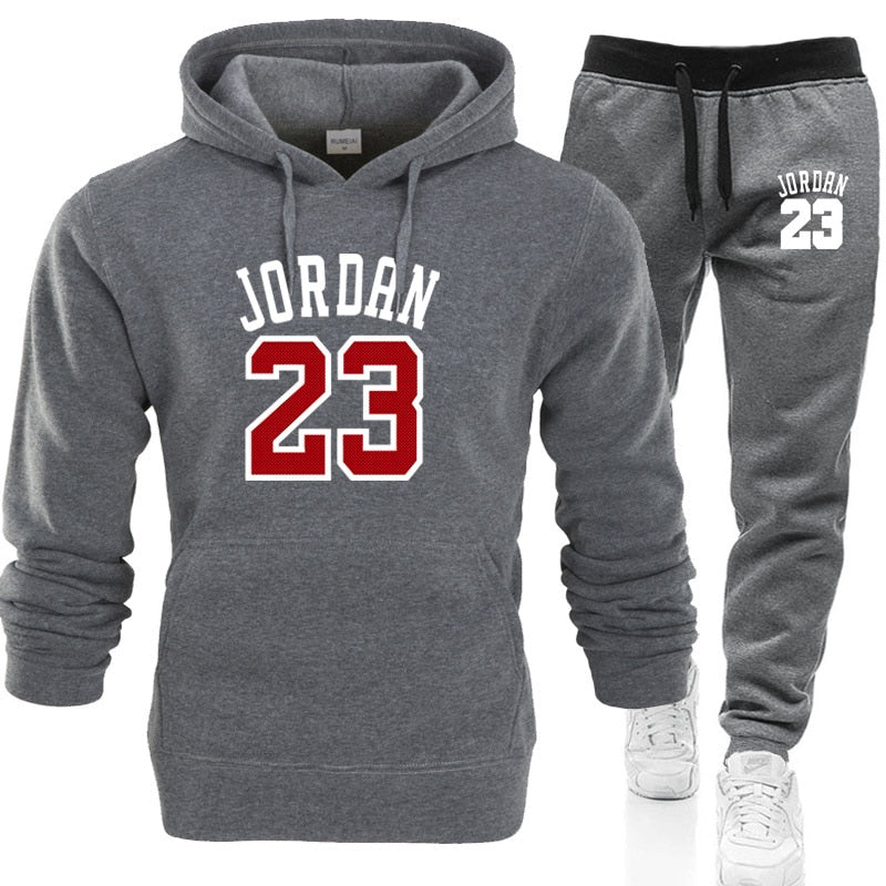 2019 JORDAN 23 Men Sportswear Hoodies Set Spring Suit Clothes Tracksuits Male Sweatshirts Coats Track Suits Joggers Plus Size-geekbuyig