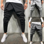 2018 New Brand Solid Cotton Men Harem Long Pant Dance Running Workout-geekbuyig